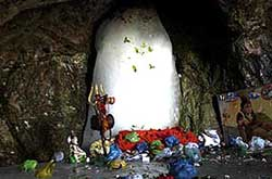 Shiv Lingam in Shri Amarnathji Shrine Cave